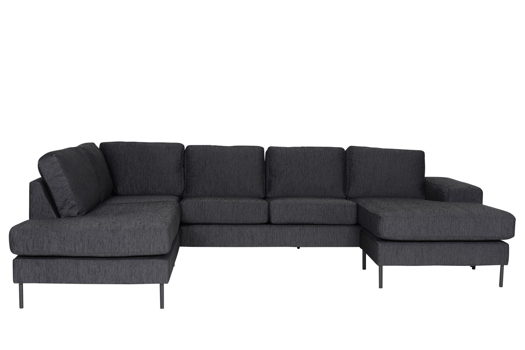 u sofa jonas elegantes zeitloses xxl designer sofa schwarz mdv h. Black Bedroom Furniture Sets. Home Design Ideas