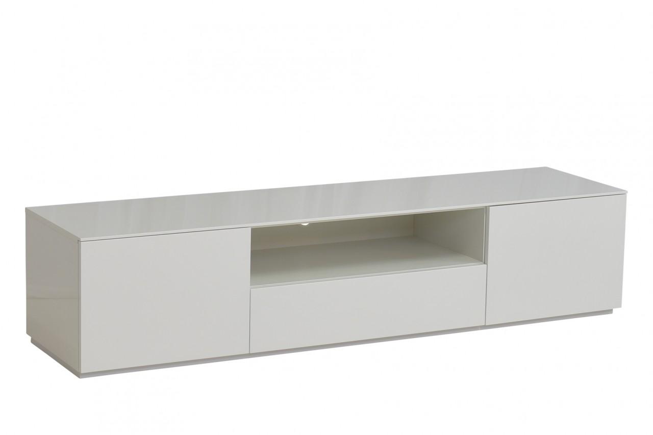Lowboard Monaco 180 cm Weiss Hochglanz lackiert