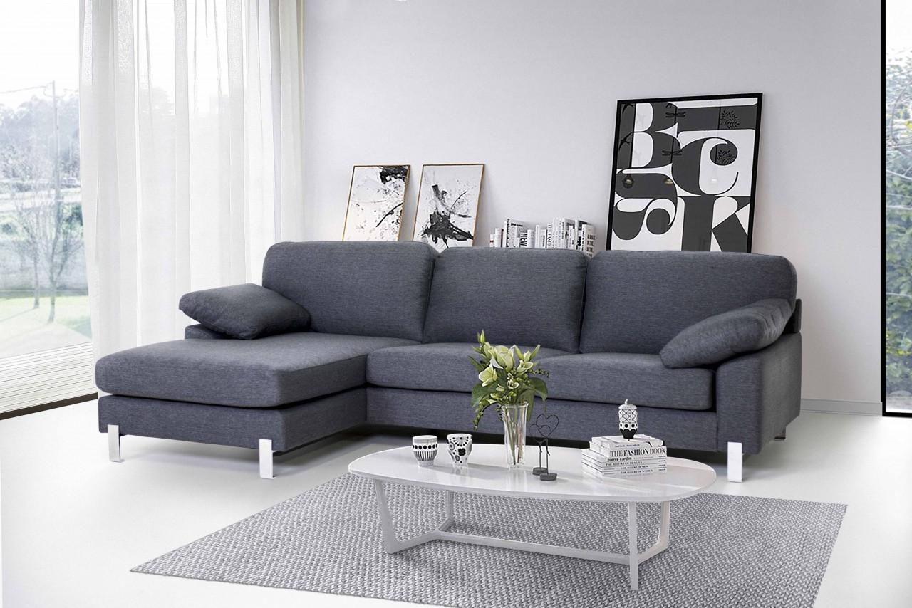 ecksofa julia klassisches design perfekter sitzkomfort grau mdv h. Black Bedroom Furniture Sets. Home Design Ideas