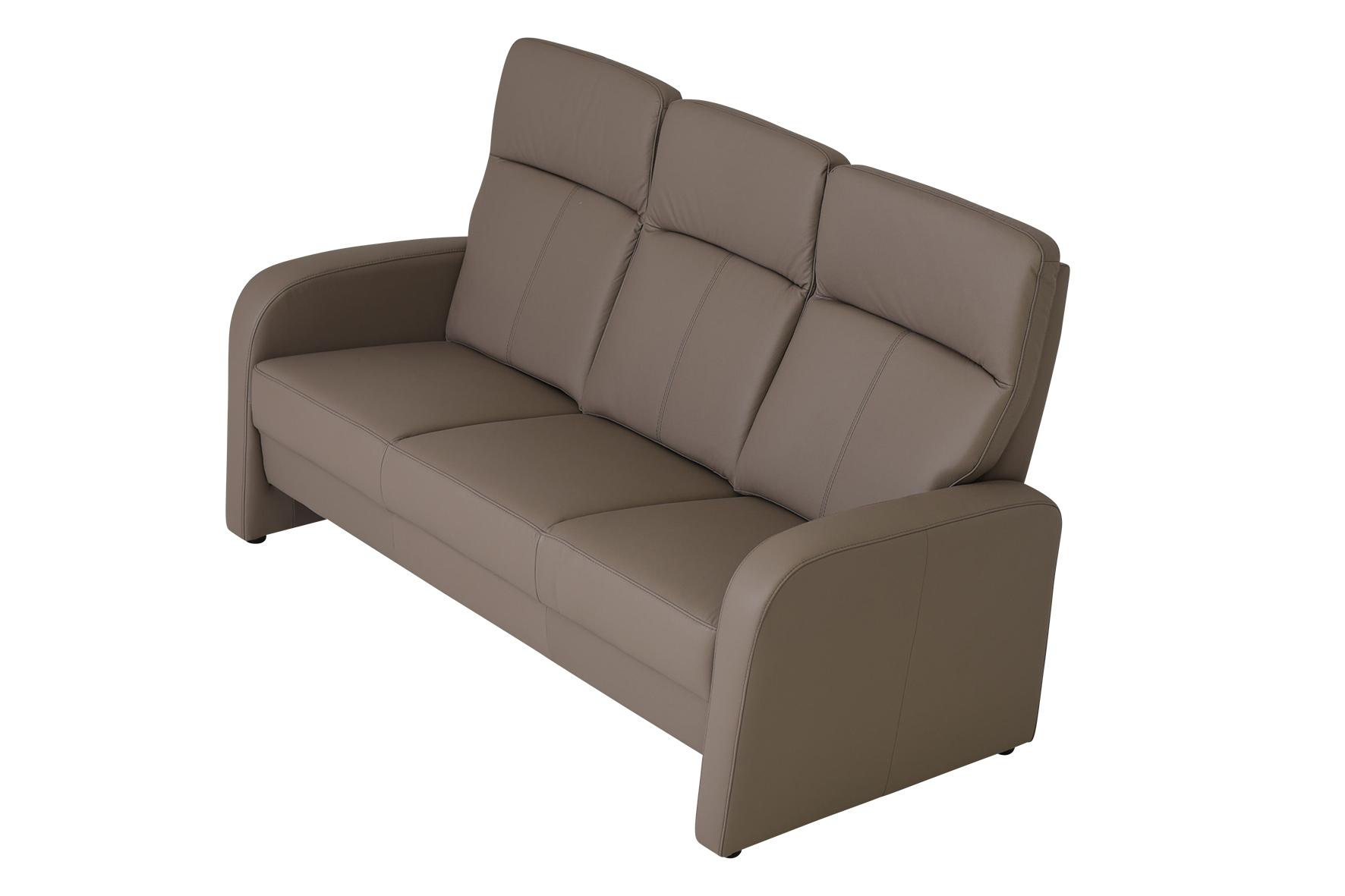 Sofa Leder Taupe Hoher Rücken in vielen Farben erhältlich