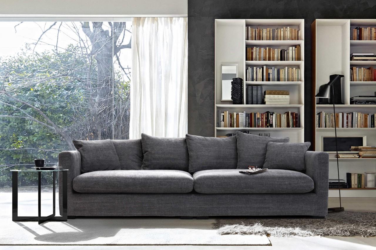 BigSofa Max perfekter Sitzkomfort durch Daunenfüllung Grau