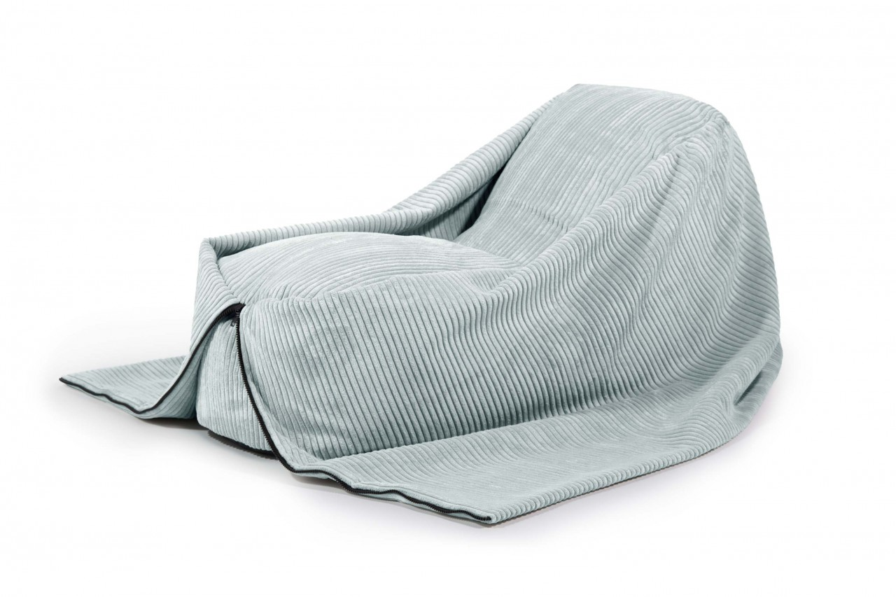 Sitzsack Cocoon 120 - Stoff Waves - Farbe Mint