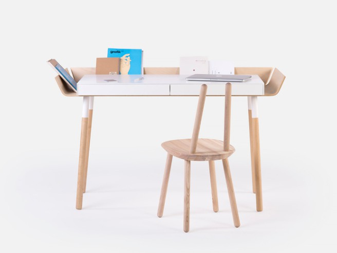 My Writing Desk - Farbe Natur Öl Weiss