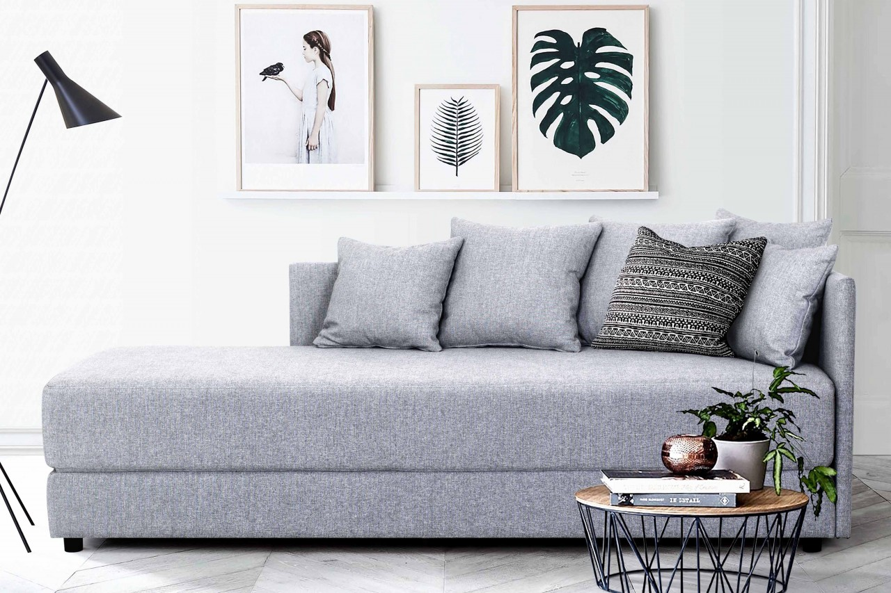 bettsofa tom jugendzimmer riesige liegefl che stoff grau mdv h. Black Bedroom Furniture Sets. Home Design Ideas