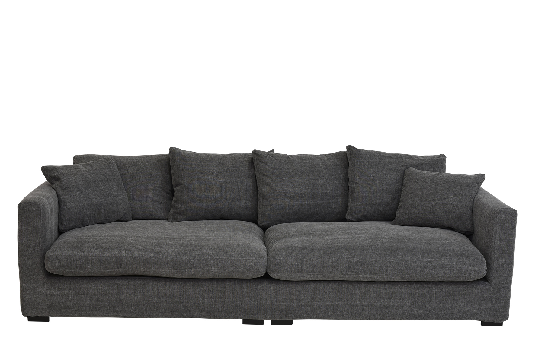 Bigsofa Max Perfekter Sitzkomfort Durch Daunenfullung Grau