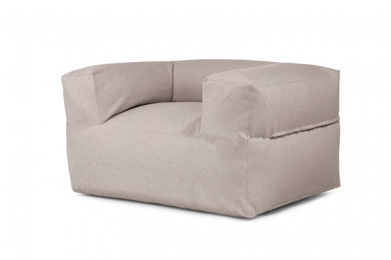 Sitzsack / Sessel MOOG  -  Stoff Riviera - Farbe Braun